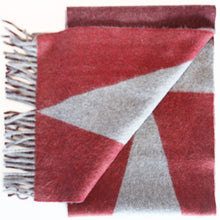 Jane Keith Designs Colour Block hand printed Angora Wool scarf - Staffa 7