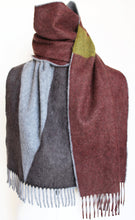 Colour Block hand printed Angora Wool scarf - Staffa 8  menswear and womenswear