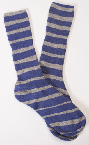 Broad striped ladies cashmere socks.
