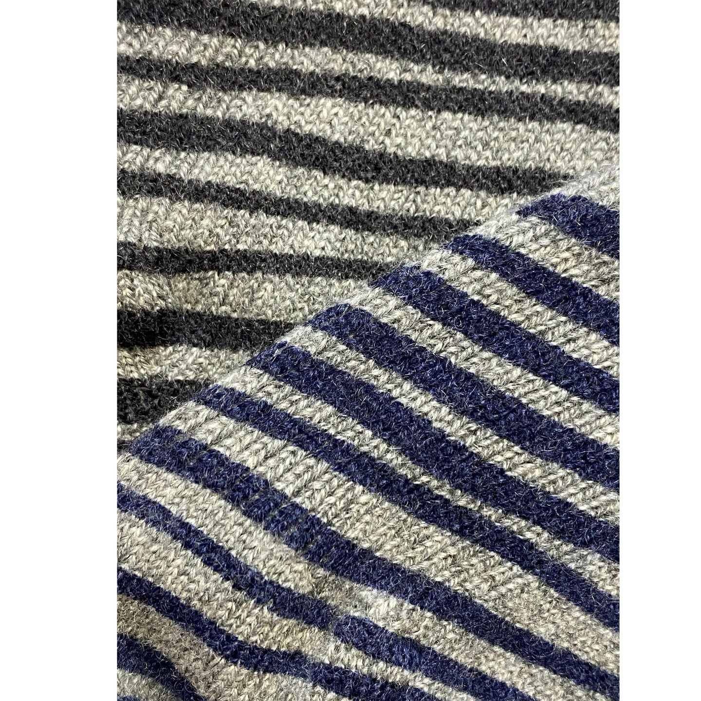 Double sided Striped ladies cashmere socks.