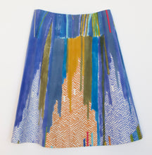 Jane keith Designs hand printed and painted wool skirt 'Chevrons low'