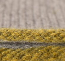 Hand painted coloured edge cashmere hat - yellow detail.