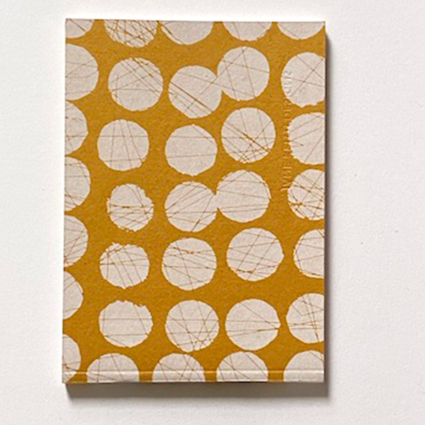 'Scratched' Hand Printed A6 note book