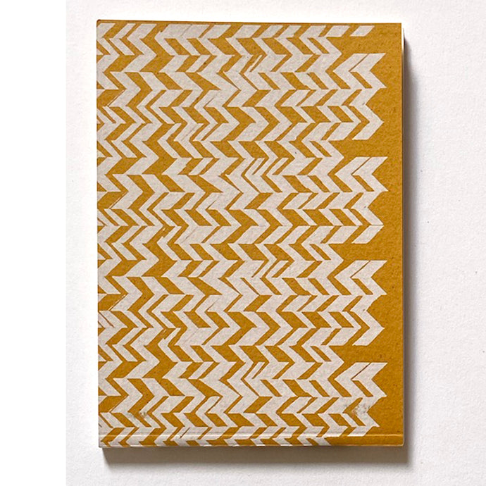 'Chevrons' Hand Printed A6 note book