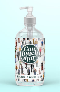 Hand Sanitiser 500 ml GORGEOUS DESIGNS to KEEP & REFILL Then just pick your Fragrance !!! Label - Safe Crowd