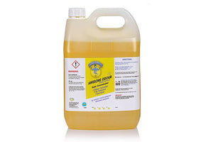 "Hospital Grade SANITISER, Disinfectant & Deodoriser - Awesome Odour "" Zesty Lemon "" 5 Ltr bottles"