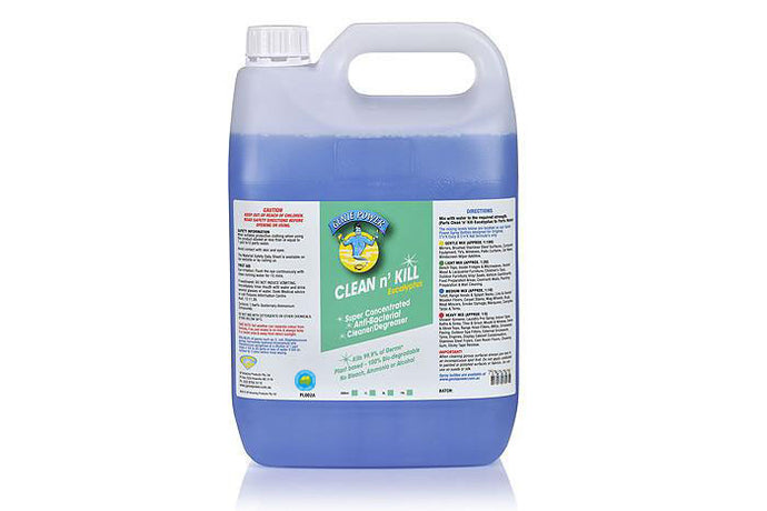 Clean n Kill Eucalyptus CONCENTRATED SANITISER Is Certified Hospital Grade sanitiser that also cleans - 5 Ltr