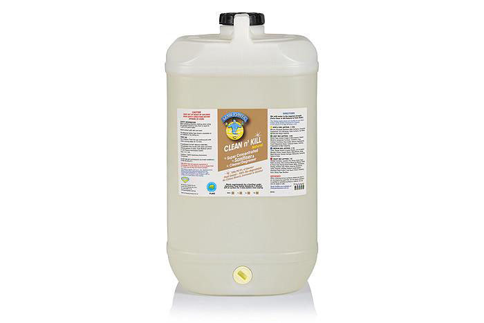 15 Ltr Drum Clean n Kill Natural - Cleans & Sanitises, Meets the requirements under the Australian Food Safety Standards