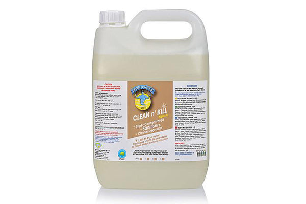 5 Ltr Clean n Kill Natural - Cleans & Sanitises, Meets the requirements under the Australian Food Safety Standards
