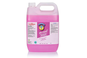"Spa Clean - Concentrated SANITISER and Degreaser "" Tutti Frutti "" 5 Ltr bottles"