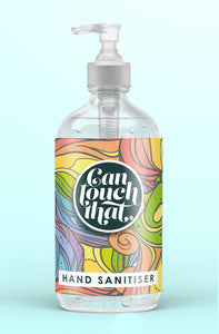 Hand Sanitiser 500 ml GORGEOUS DESIGNS to KEEP & REFILL Then just pick your Fragrance !!! Label - Groovy Days
