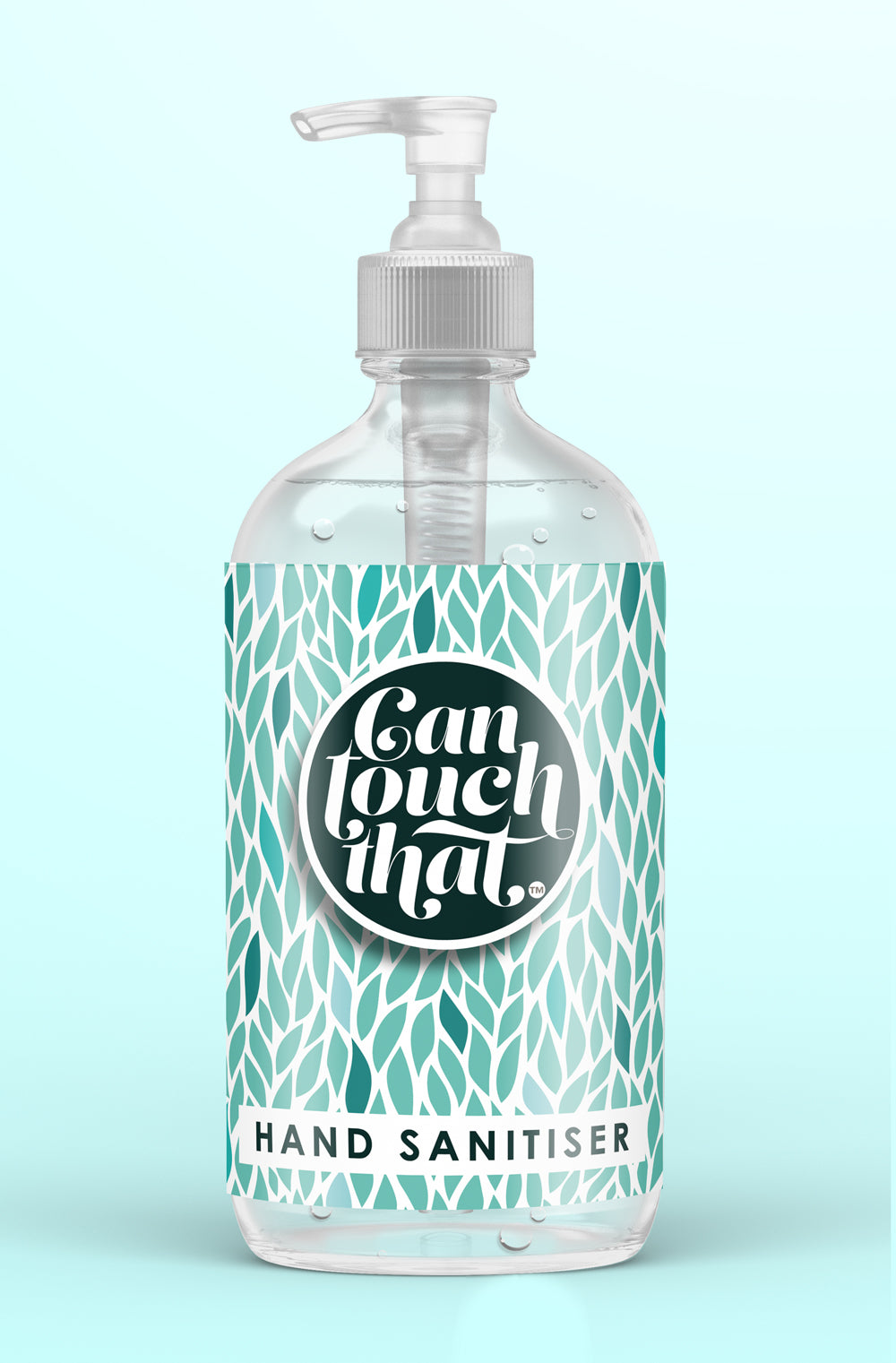 Hand Sanitiser 500 ml GORGEOUS DESIGNS to KEEP & REFILL Then just pick your Fragrance !!!  Label - Green Leaves