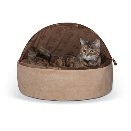 Buy Cheap, Discount, On Sale, Wholesale, Online-K&H Pet Products 2997 Self-Warming Kitty Bed Hooded 655199029976 KH2997- Pet Supply Store