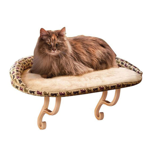 Buy Cheap, Discount, On Sale, Wholesale, Online-K&H Pet Products 3097 Kitty Sill Deluxe with Bolster 655199030972 KH3097- Pet Supply Store