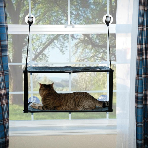 Buy Cheap, Discount, On Sale, Wholesale, Online-K&H Pet Products 9092 Kitty Sill - Double Stack EZ Window Mount 655199090921 KH9092- Pet Supply Store