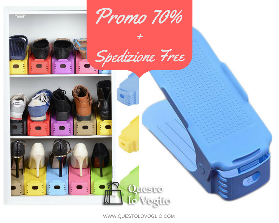 Shoes Cloud: la scarpiera innovativa - Promo 70% + Spedizione Free