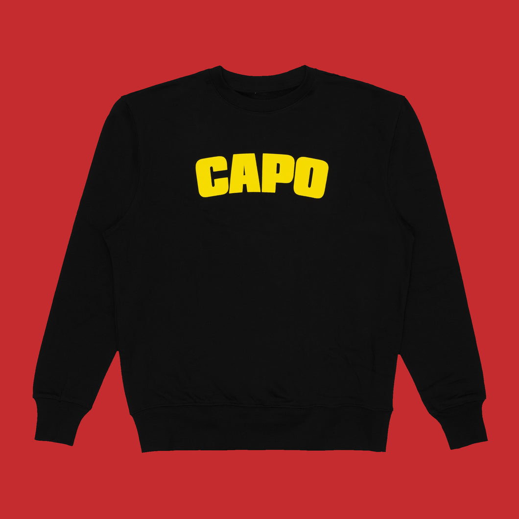 CAPO SWEATSHIRT - BLACK