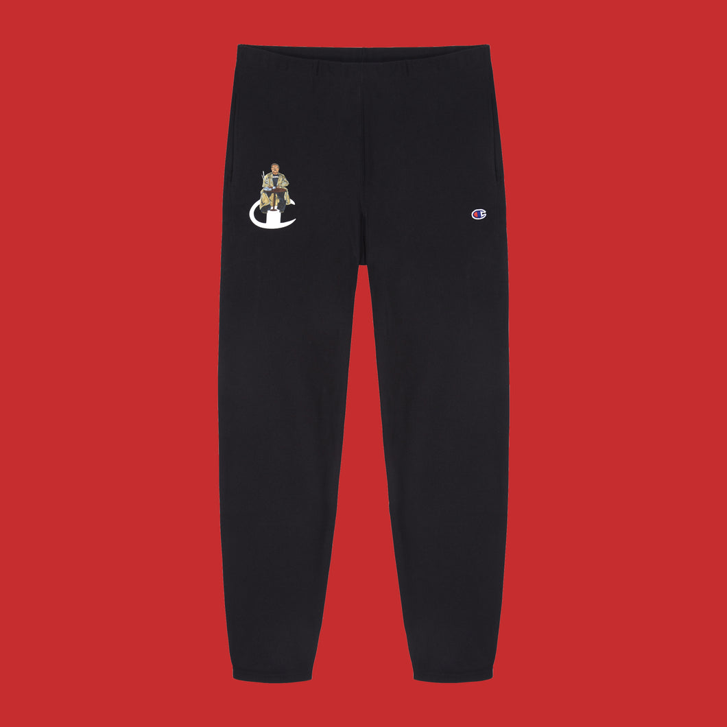 JIM LONGDEN / CHAMPION SWEATPANTS - BLACK
