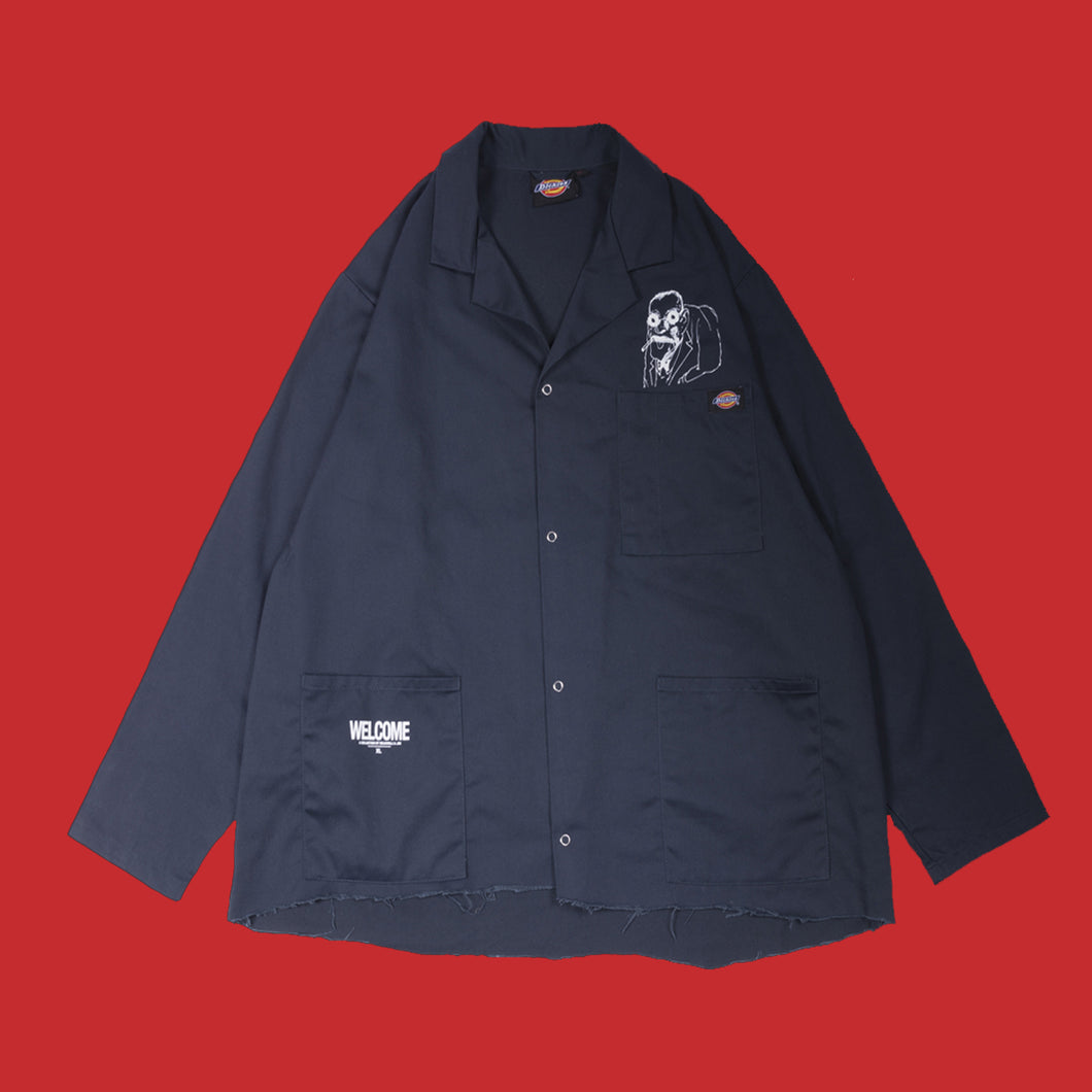 'WELCOME' THE MAN WORKJACKET - NAVY