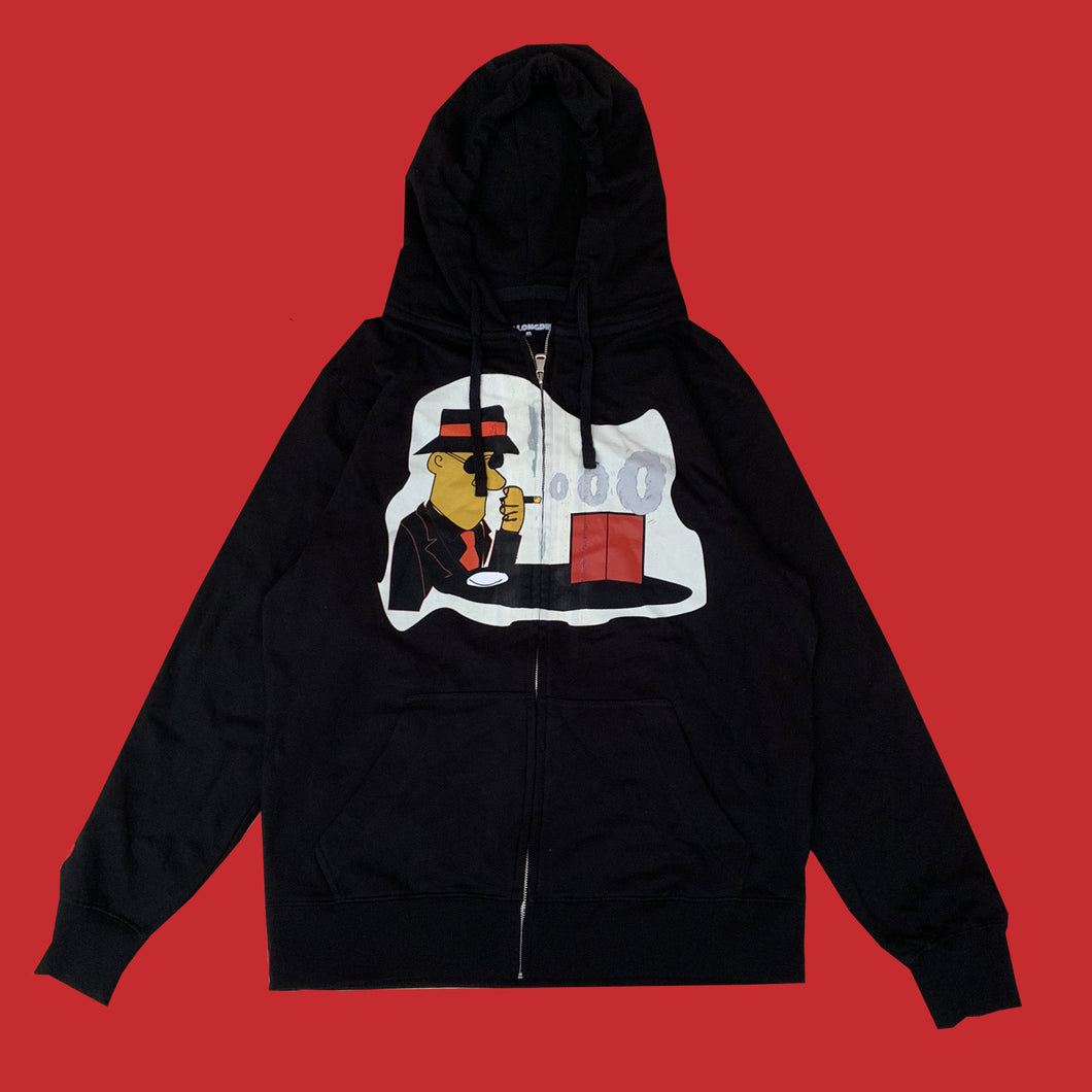 'THE AFTERMATH' ZIP UP HOODIE - BLACK