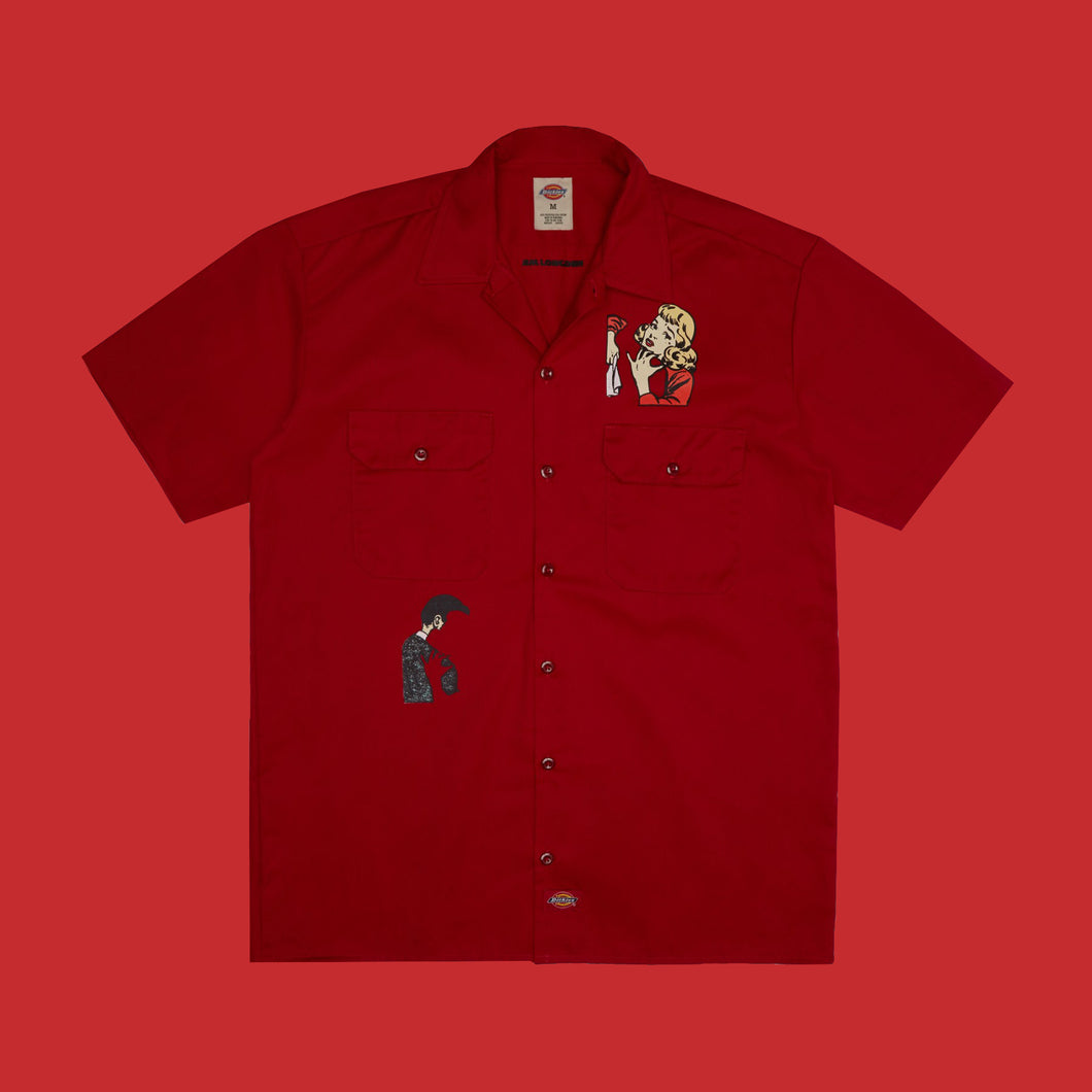 SPLIT SHIRT - RED