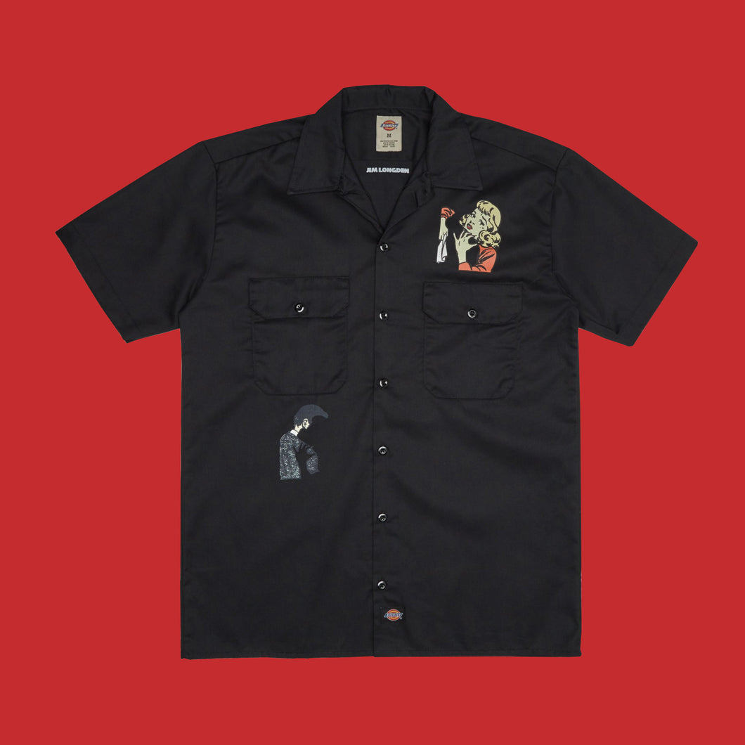 SPLIT SHIRT - BLACK