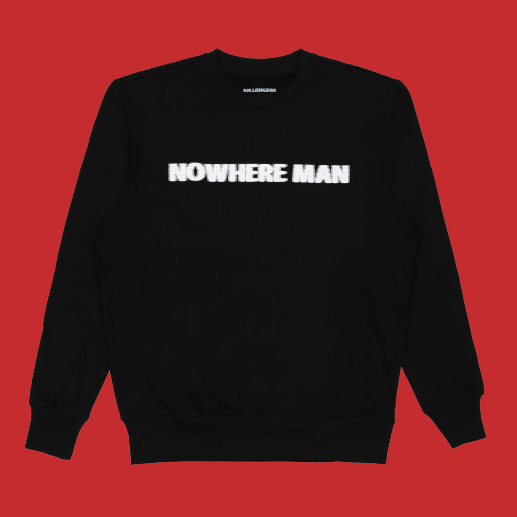 NOWHERE MAN SWEATSHIRT - BLACK