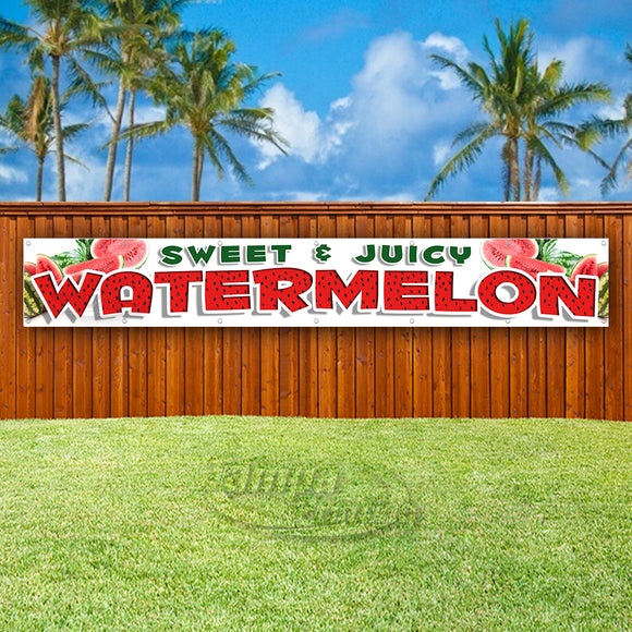 Sweet & Juicy Watermelons XL Banner