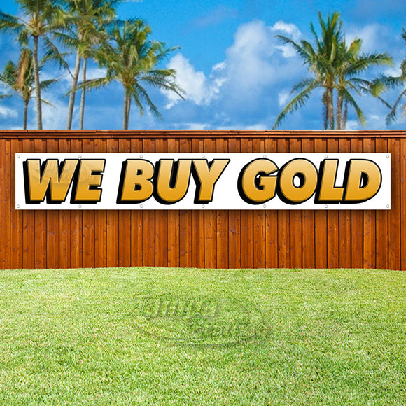 We Buy Gold XL Banner