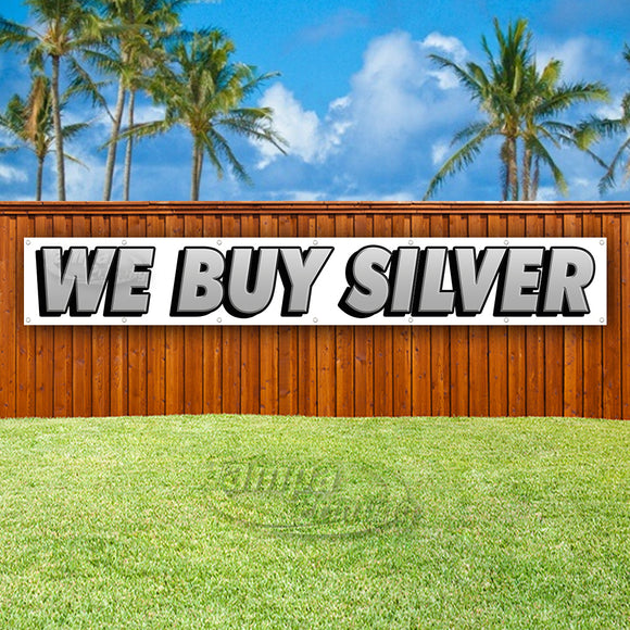 We Buy Silver XL Banner