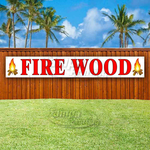 Fire Wood XL Banner