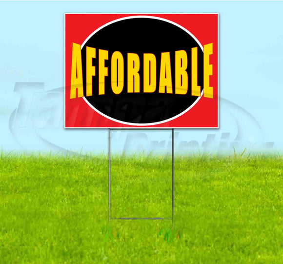 Affordable Yard Sign