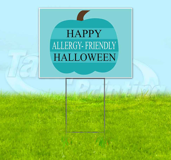 Happy Allergy-Friendly Halloween Yard Sign