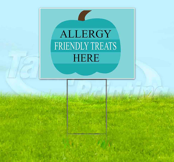 Allergy Friendly Treats Available Here Yard Sign
