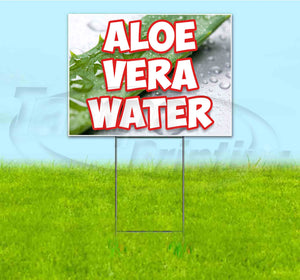 Aloe Vera Water Yard Sign