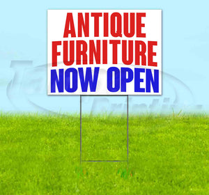 Antique Furniture Now Open Yard Sign