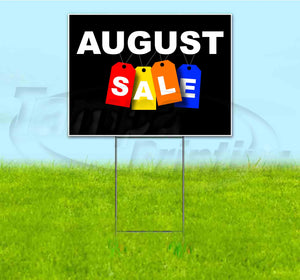 August Sale Tag Yard Sign