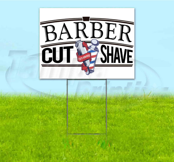 Barber Cut Shave Yard Sign