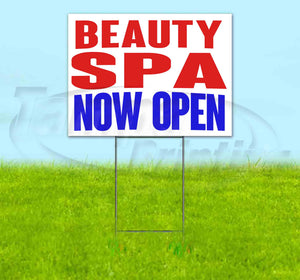Beauty Spa Now Open Yard Sign