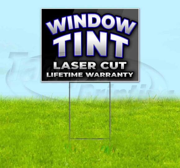 Curved Window Tint Yard Sign