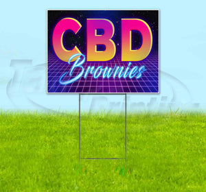 CBD Brownies Yard Sign