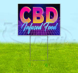 CBD Infused Food Yard Sign