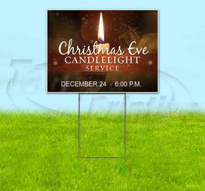 Christmas Eve Candlelight Service Yard Sign