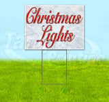 Christmas Lights Yard Sign