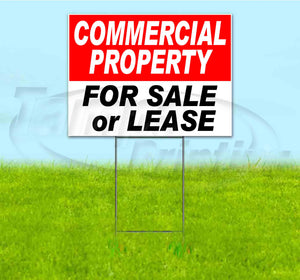 Commercial Property For Sale Or Lease Yard Sign