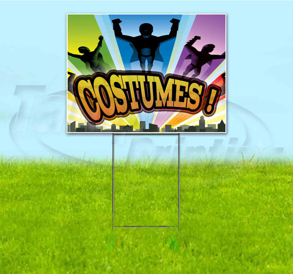 Costumes Yard Sign