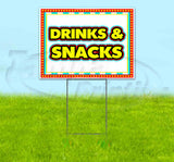 Drinks and Snacks Yard Sign