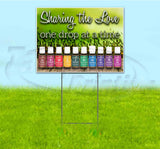 Essential Oils Sharing The Love Yard Sign