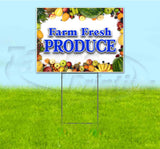 Farm Fresh Produce Yard Sign