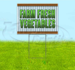 Farm Fresh Vegetables Yard Sign
